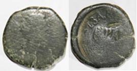 Sestercio de Hadriano y As contramarcado de Celsa Foti15