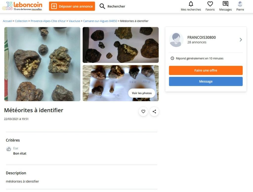 identification météorite Captur24