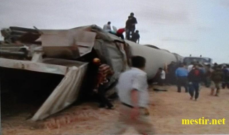 Tunisie:  près de'El Fahes 18 morts, 70 blessés dans un accident entre un train et un camion Train10