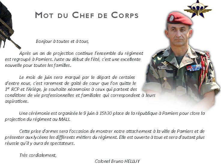 Rapace Infos: Mot du chef de corps Bruno HELLUY juin 2015 1er_rc11