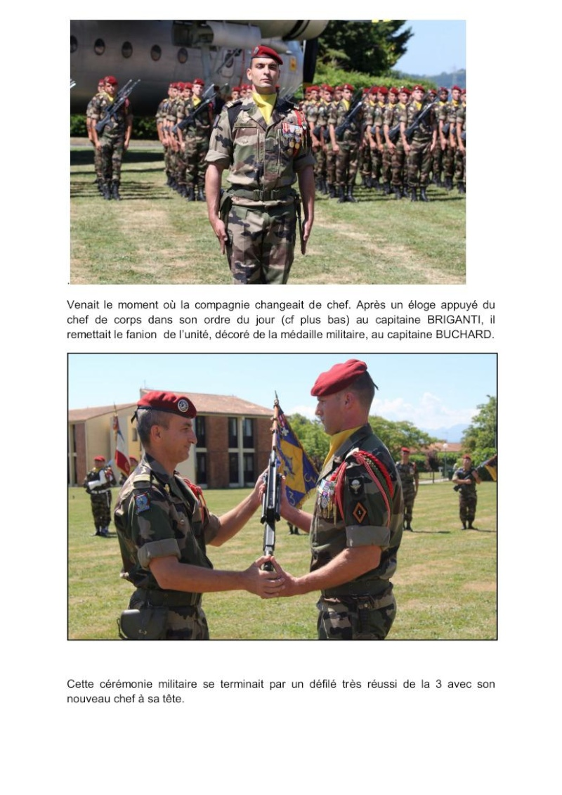Passation commandement 3e Cie 1er RCP source site 1er RCP Passat11