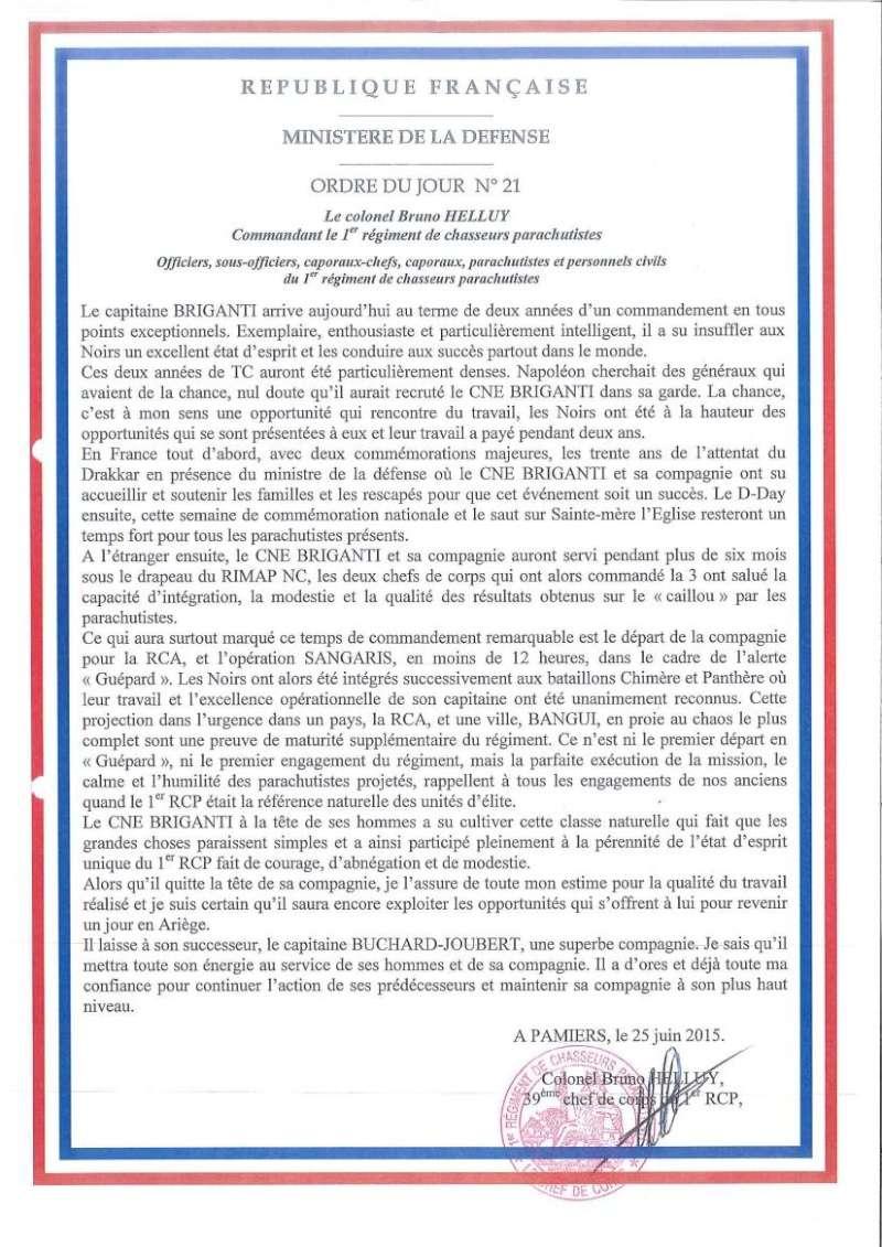 Passation commandement 3e Cie 1er RCP source site 1er RCP Passat15