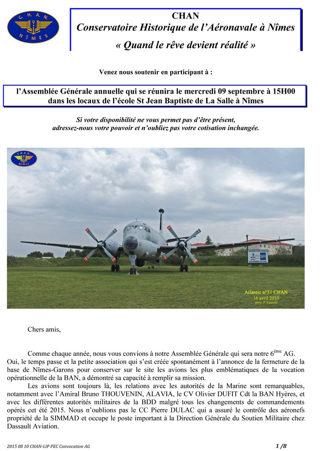 [Associations anciens marins] C.H.A.N.-Nîmes (Conservatoire Historique de l'Aéronavale-Nîmes) - Page 3 2015_259
