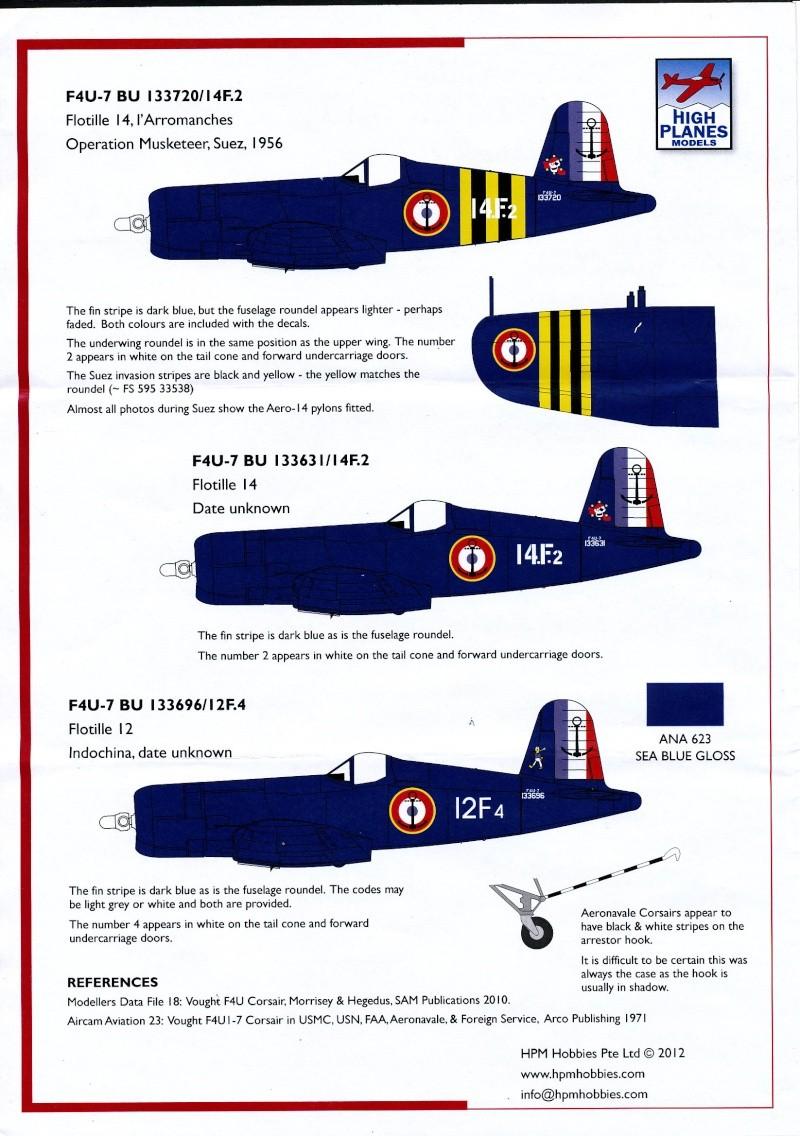 Vought F4U-7 Corsair, 1/72, HPM Vought21