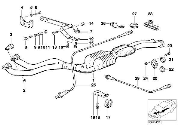 [BMW 328 i E36] Montage de ligne intermédiaire de 325 i E36 325i_c10