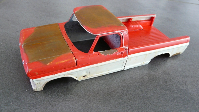 Ford Ranger XLT 1971 1/25 - Rusty farm truck. P1230813