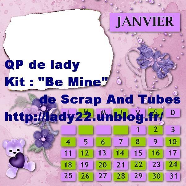 """QP calendrier """"Janvier"""" Previe22"""