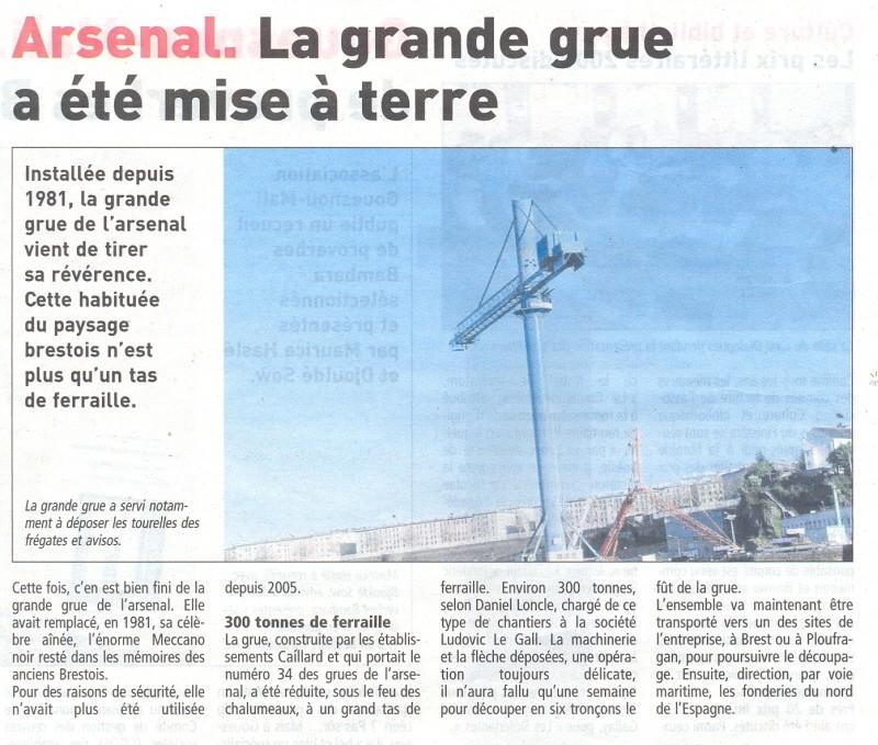 brest - [Les ports militaires de métropole] Port de Brest - TOME 1 - Page 5 Grue_b11