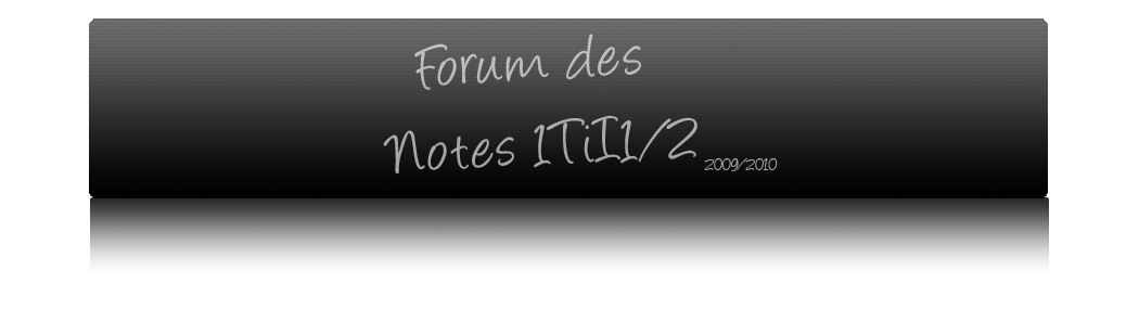 Forum des notes 1Ti I
