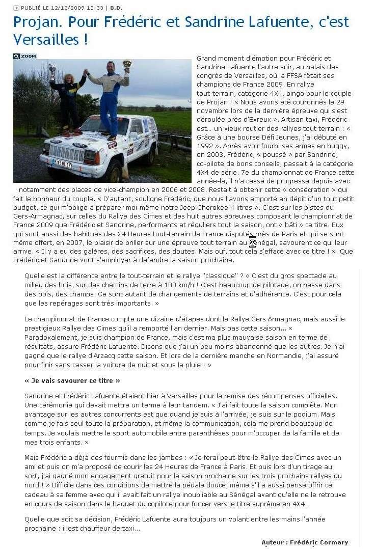 Remise des prix FFSA 2009 Lafuen10