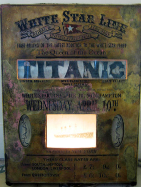La plaque du lancement du Titanic retrouvée en Espagne 14365210