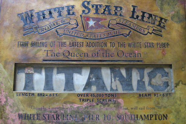 La plaque du lancement du Titanic retrouvée en Espagne Titani15