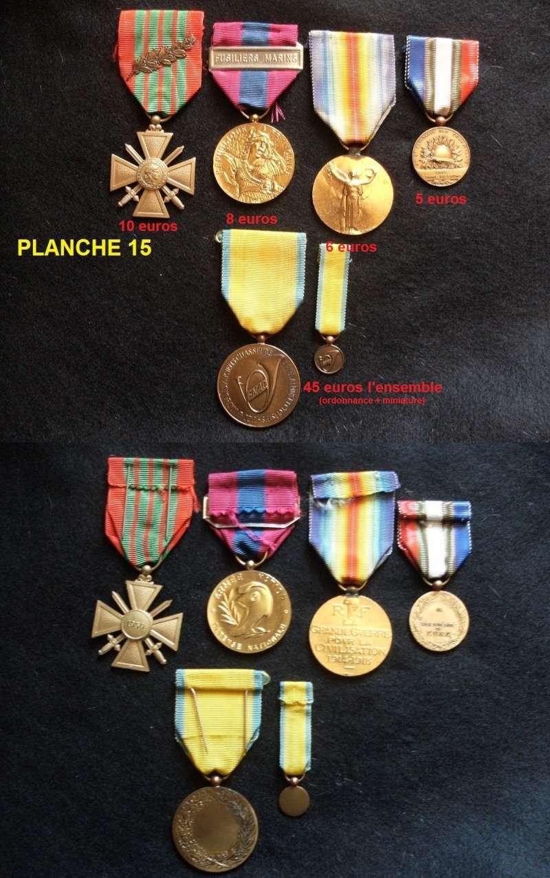 Planche 15 (diverses médailles) Prix baissés Fimven23
