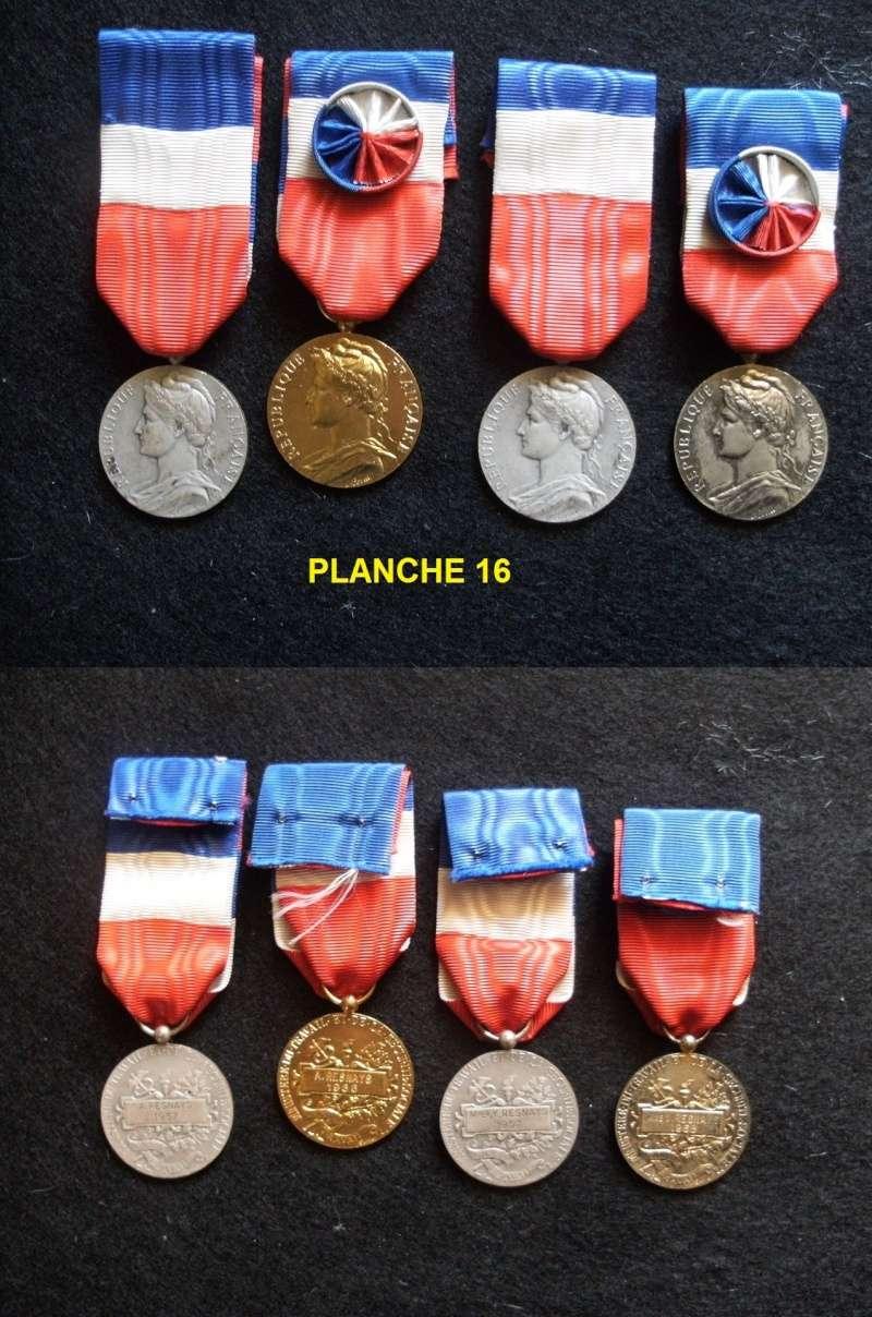 Planche 16 (4 médailles du Travail) Prix baissé Fimven24