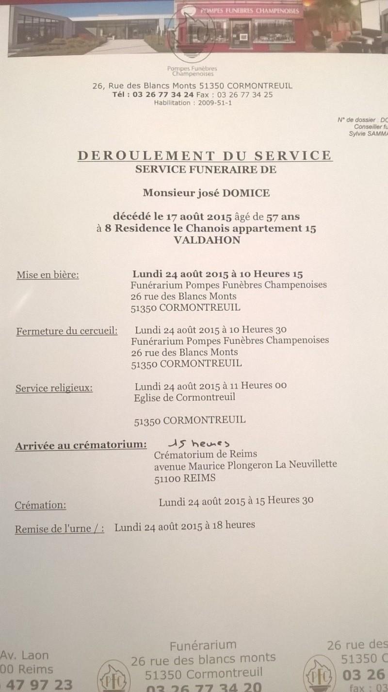 décès de notre  ami  José  DOMICE Domice10