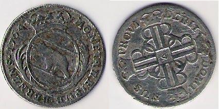 Suiza (Bern), 20 Kreuzer, 1764 Suisa_10