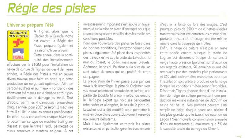[Tignes]Régie des pistes- article dernier bulletin municipal Regie-10