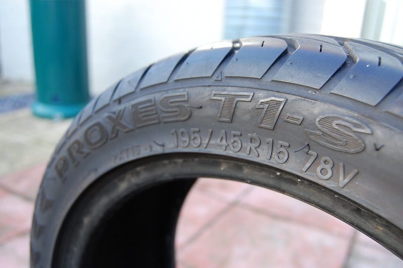 A pair of 195/45/15 Toyo Proxes T1-S's Toyo_210