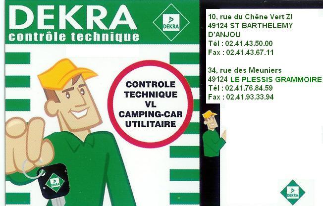 CONTROLES TECHNIQUE DEKRA - LE PLESSIS GRAMMOIRE, ST SYLVAIN D'ANJOST BARTHELEMY D'ANJOU Dekra-12