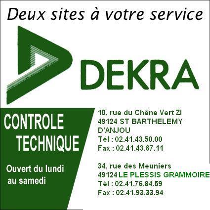 CONTROLES TECHNIQUE DEKRA - LE PLESSIS GRAMMOIRE, ST SYLVAIN D'ANJOST BARTHELEMY D'ANJOU Dekra13