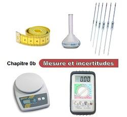Chapitre 0b : Incertitudes et mesures Chap0012