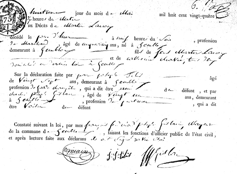 Famille LACROIX - GILBERT - DELOZ - SACRE Sf010a10