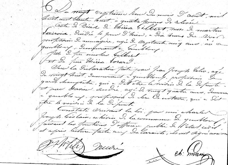 Famille LACROIX - GILBERT - DELOZ - SACRE Sf010e11