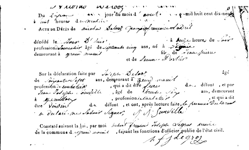 (246 - 247) Famille DELOZ - LADRILLE Sf017217