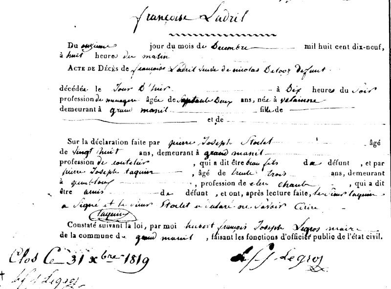 (246 - 247) Famille DELOZ - LADRILLE Sf017218