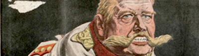 Caricature du kaiser carte postale éditions Ernest Le Deley 1110