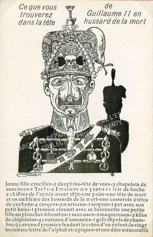 Caricature du kaiser carte postale éditions Ernest Le Deley Carica10