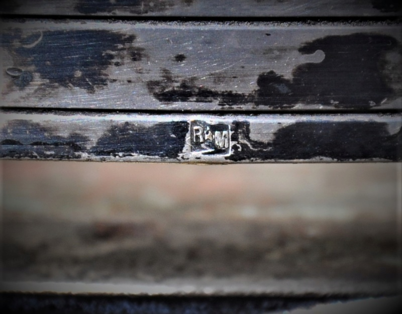 dessous de plat Verre Les Andelys et métal argenté Roux-Marquiand Dsc_0396