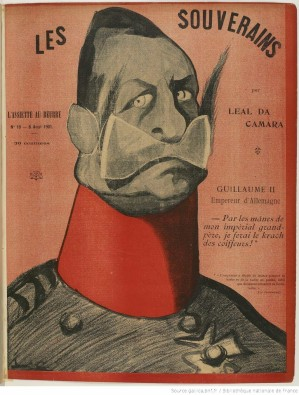 Caricature du kaiser carte postale éditions Ernest Le Deley Guilla11