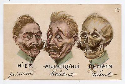 Caricature du kaiser carte postale éditions Ernest Le Deley Ww1-ca10