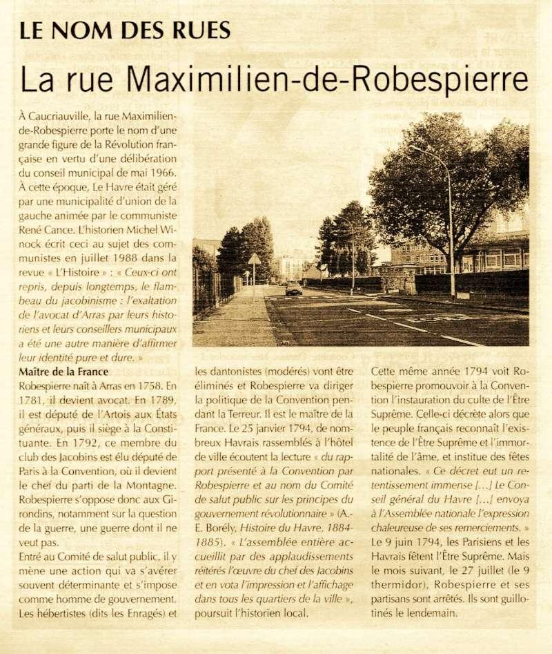Havre - Le Havre - Rue Maximilien de Robespierre 2015-021