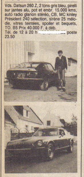annonces d'antan Datsun / Nissan Z & ZX  ... Annonc13