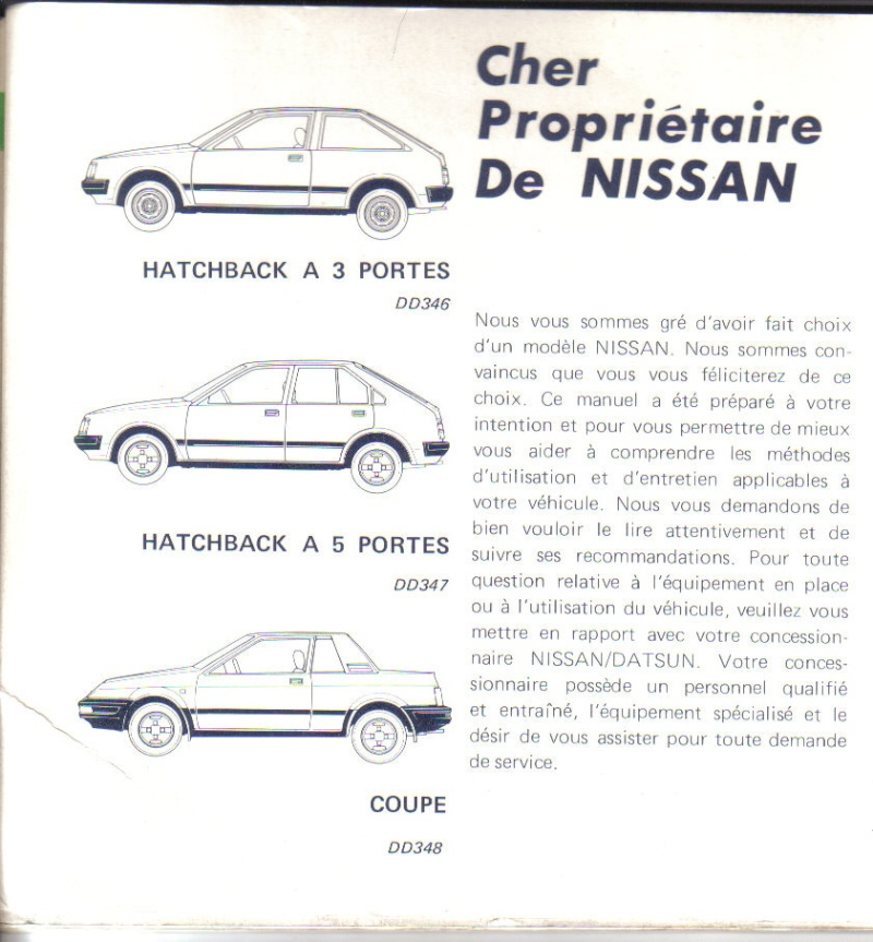 TOPIC OFFICIEL NISSAN CHERRY N12 et N12 TURBO! & N12 PUL Manuel10