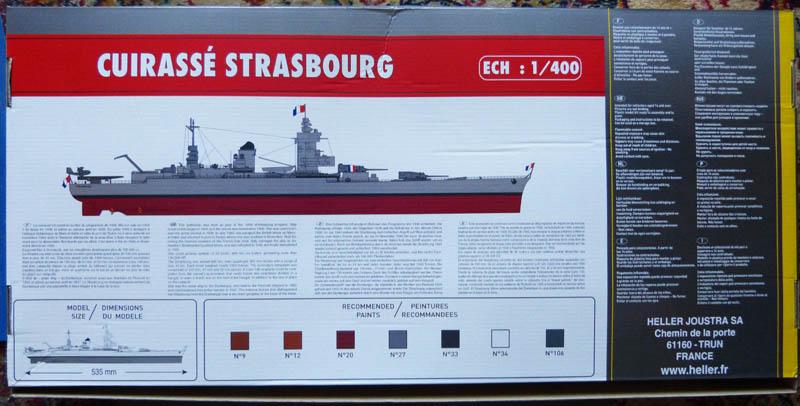 Cuirassé STRASBOURG 1/400ème Réf 81082  Strasb12