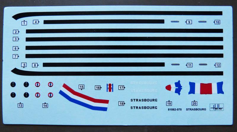 Cuirassé STRASBOURG 1/400ème Réf 81082  Strasb19