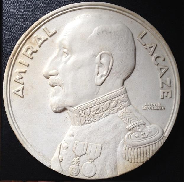 Marine : Platre de Lavrillier, médaille de l'Amiral Lacaze - VENDU Amiral10