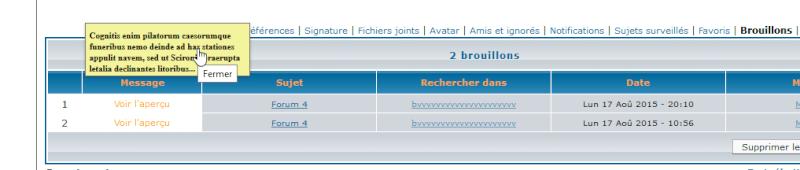 [PHPBB2] Avoir un aperçu en infobulle du brouillon enregistré 0313