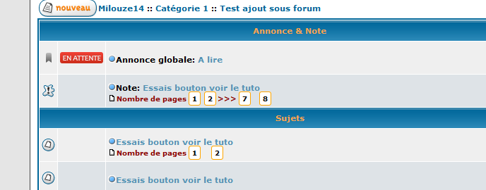 [PHPBB2] Personnaliser la pagination 2010