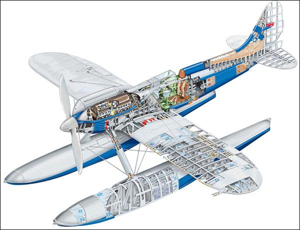 Supermarine S.6A ou B (1/72, Pavla) Plan10