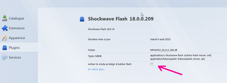 Problème pour visionner certaines vidéos (Firefox avec Adobe Flash) Plugin10