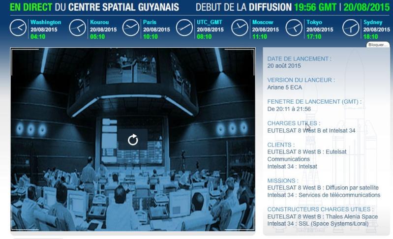 Lancement Ariane 5 ECA VA225 / Eutelsat 8 West B + Intelsat 34 - 20 août 2015 Va225_10
