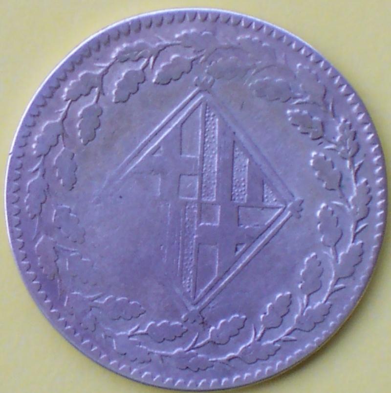 Peseta de Barcelona (Guerra de independencia, 1812 d.C) 496_r10