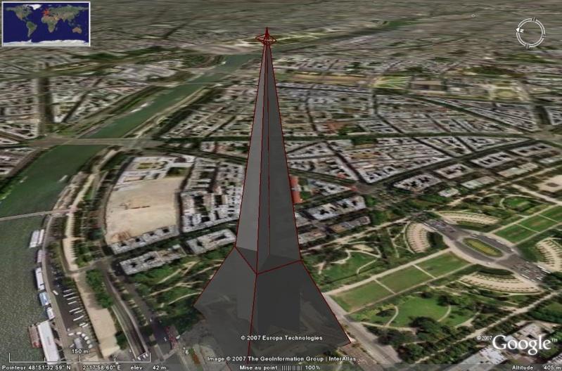 Bâtiments 3D avec textures - PARIS et Région parisienne [Sketchup] - Page 2 Tour_e19