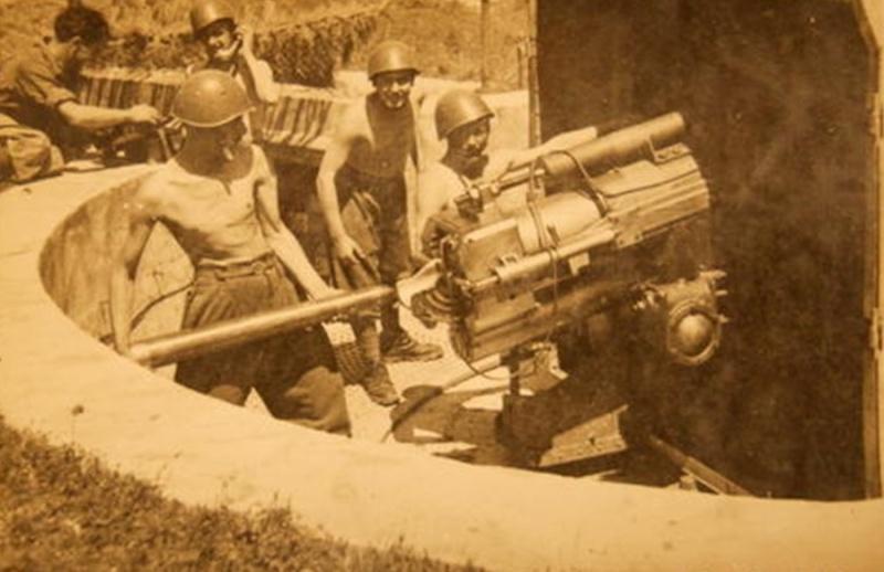 75 mm Mle 1908 avec servants italiens 75m19011