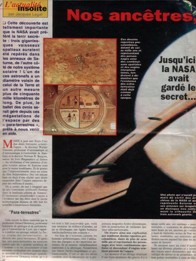 Trois vaisseaux géants seraient en orbite autour de Saturne Ringma10
