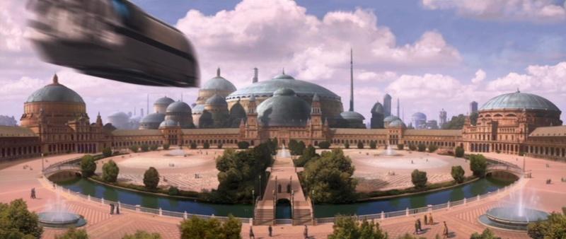 Star Wars 2 : Attack of the Clones. A Séville, dans la cité de Theed (capitale de Naboo) 2002-s10